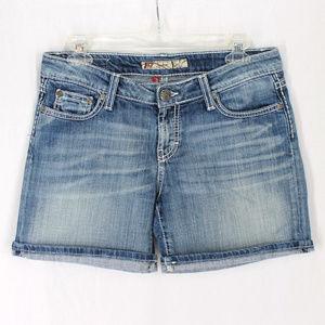 BKE Kate Denim Jean Shorts 27 Thick Stitch Pockets